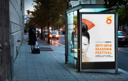 Outdoor advertising for Vancouver Opera