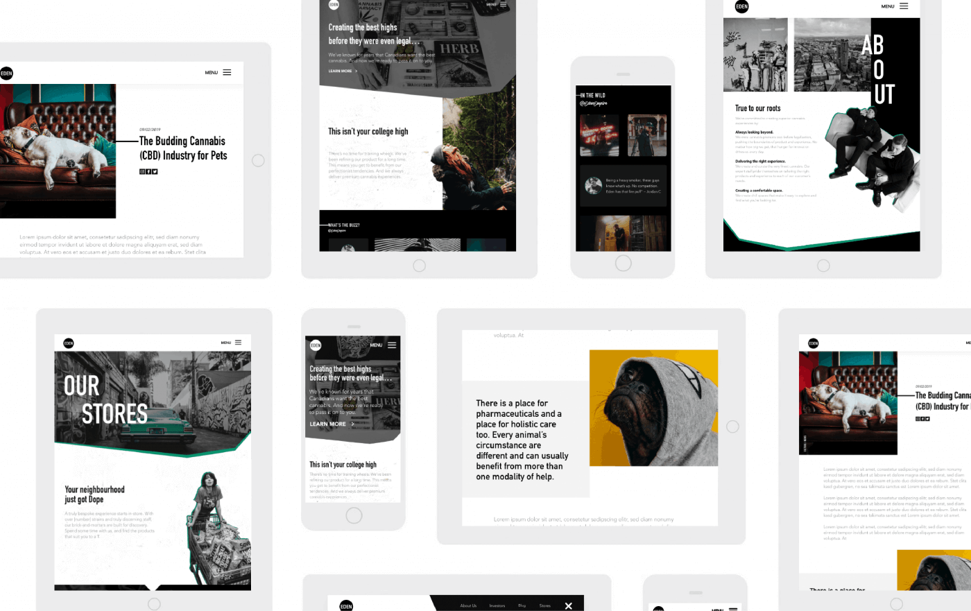 eden empire website displayed on different devices