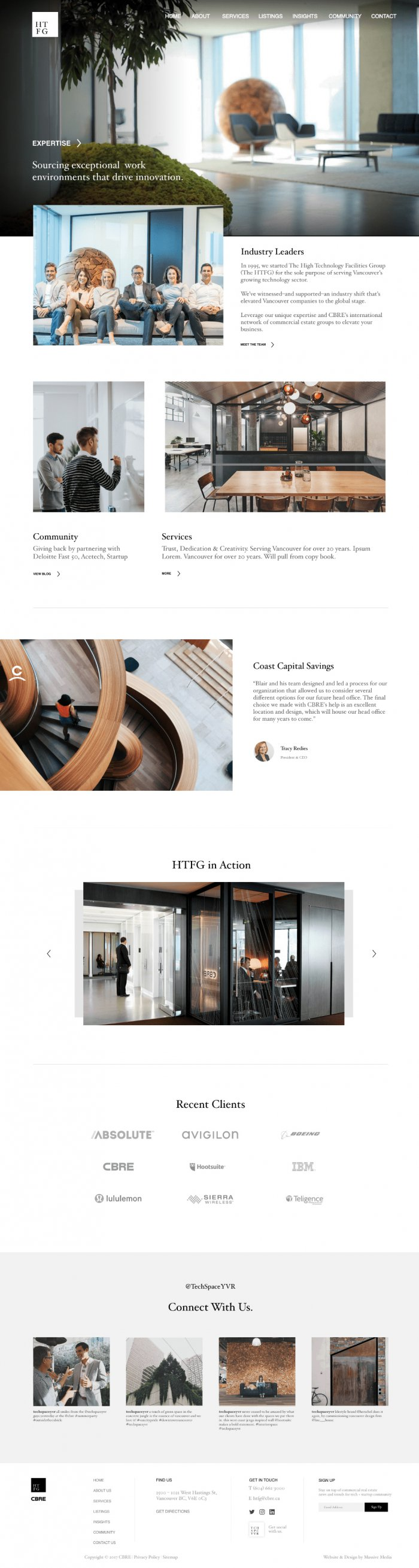 Website Design example from a real estate project