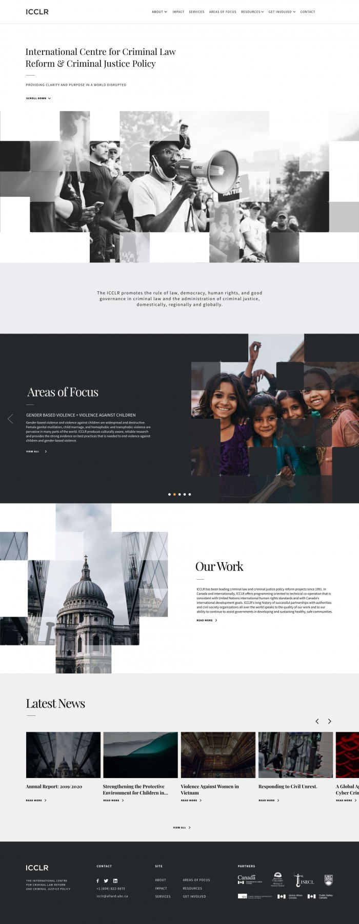 Website design showcase for Vancouver thinktank