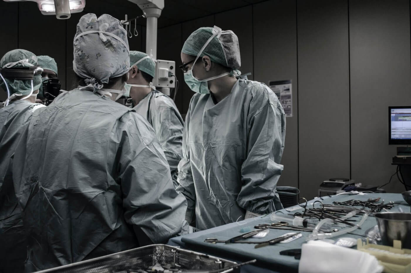 Doctors in a surgery room
