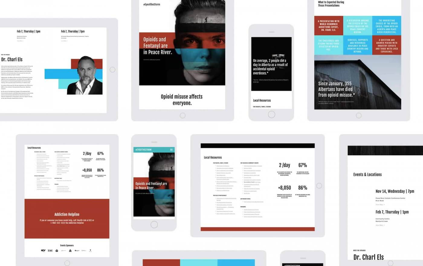 website design mockups on different devices