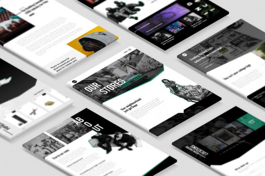 website design examples from Eden Empire