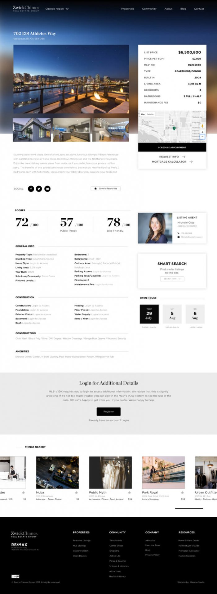 website design mockup for zwick chimes