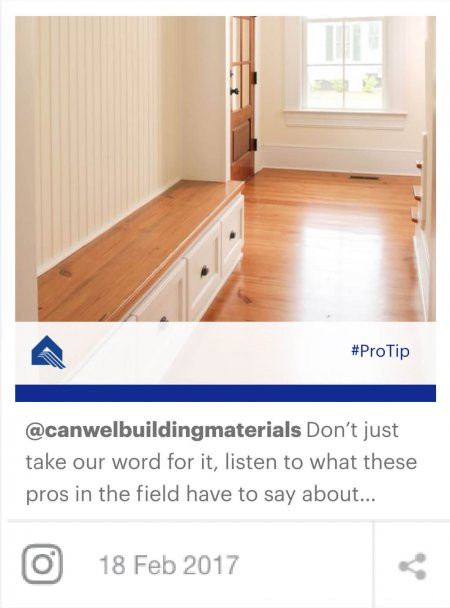 Example of social media marketing for Canwel