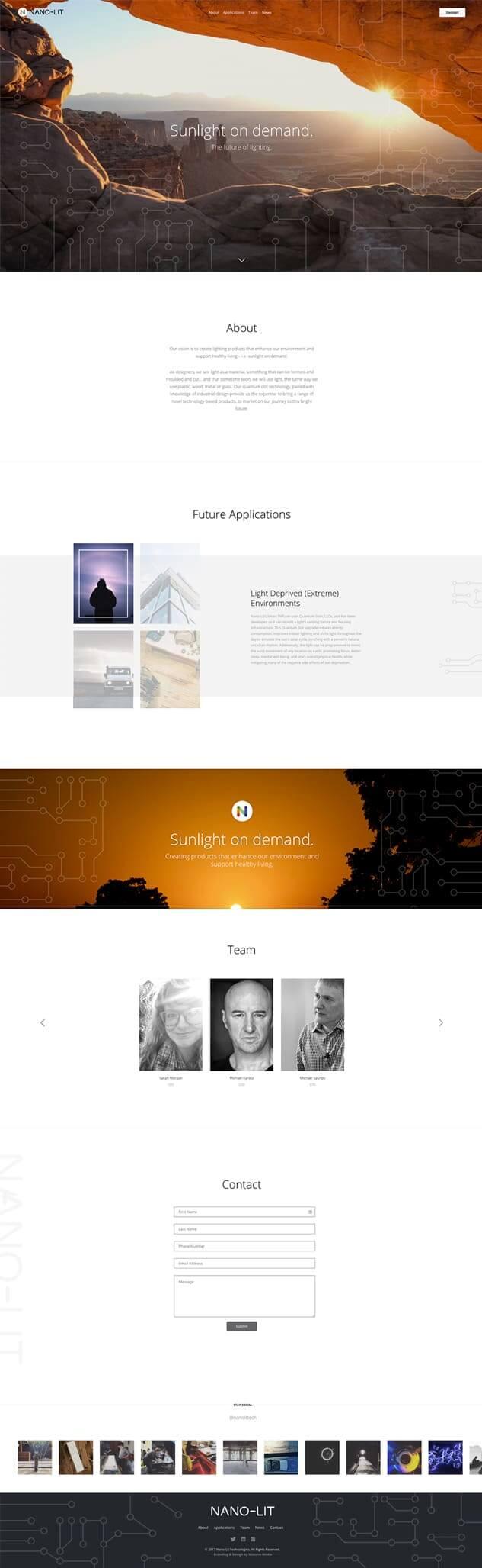 Homepage of Nano-Lit Website