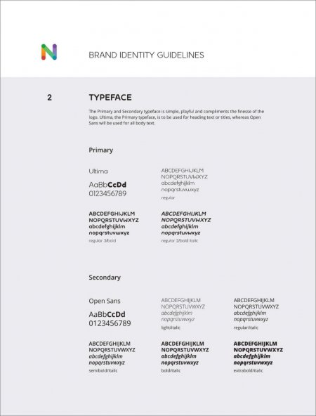Typography from a brand guide