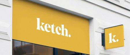 Exterior signage for ketch footware